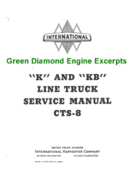 Green Diamond Engine Excerpt - CTS-8 Service Manual for K and KB Line Trucks