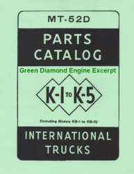Green Diamond Engine Excerpt - MT-52D Parts Catalog for K-1 to K-5 IH Trucks