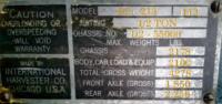 Data Plate for Cornelius - 1939 IHC D-2 1/2-Ton Truck