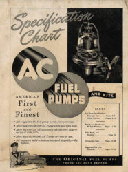 AC Fuel Pumps & Kits - Specification Chart