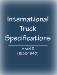 International Harvester D-Series Truck Specifications