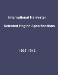 International Harvester Selected Engine Specifications