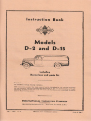 International Harvester D-2 and D-5 Series Instruction Book