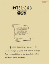 Inter-Sub Manual for 1959 - Covers International Truck Part Interchangeability from 1950-1957
