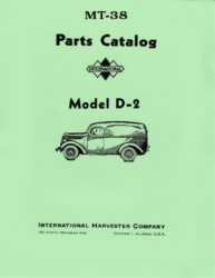 International Harvester D-2 Truck Parts Manual MT-38