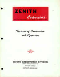 Zenith Carburetors - Features of Construction and Operation