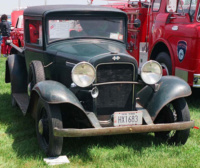 A 1933 International Model D-1 pickup truck at the 1996 Antique Truck Historical Show that appears to be mostly original. Photo by Sam Moore
