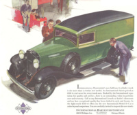 A 1933 magazine ad for the stylish IH D-1 panel van. Illustration courtesy Sam Moore