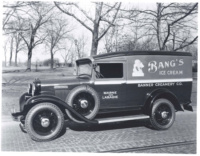 An International D-1 panel van being used as a dairy delivery truck. Photo courtesy Sam Moore