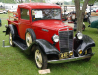 The good-looking International C-1 pickup replaced the D-1 in mid-1934. This well-restored example was displayed at the 2011 Antique Truck Historical Show in South Bend, Ind. Photo by Sam Moore