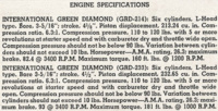 GRD-214 / GRD-233 General Engine Specifications